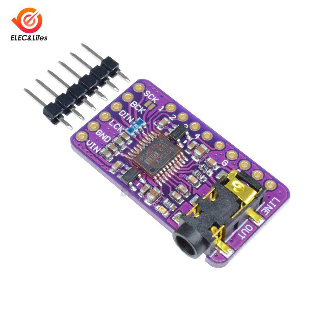Интерфейс I2S PCM5102 декодер DAC плата GY-PCM5102 I2S цифровой аудиоплеер модуль для Arduino Raspberry Pi