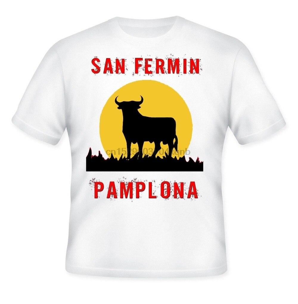San fermin festival pamplona-nova camisa de algodão branco