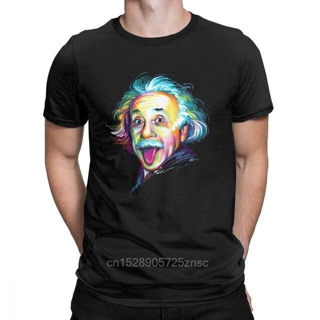 Camiseta de algodón con estampado de Albert Einstein para hombre, camiseta de manga corta de física, ciencia, matemáticas, teoría de la relatividad, camiseta Geek, ropa