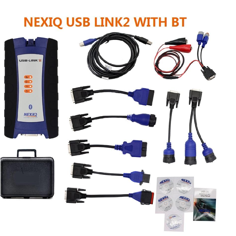 DHL Freies USB Link Bluetooth Diesel Lkw OBD Fehler Diagnose Werkzeug für NEXIQ 2 USB Link Lkw Diagnose Scanner