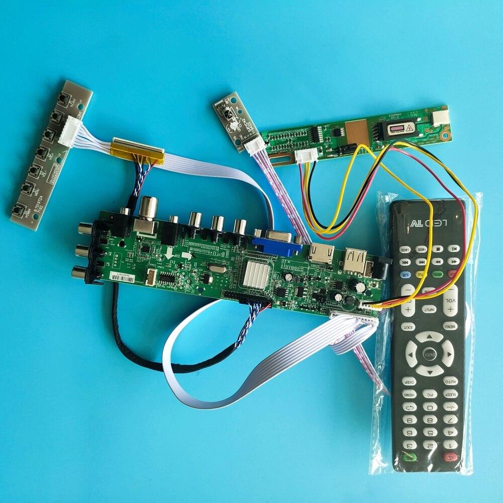 """Kit para B154EW02 V5 /B154EW02 V7 HDMI VGA 1 CCFL 1280X800 TV AV USB LCD DVB-C DVB-T 30pin Panel Controlador Digital de 15,4"""""""