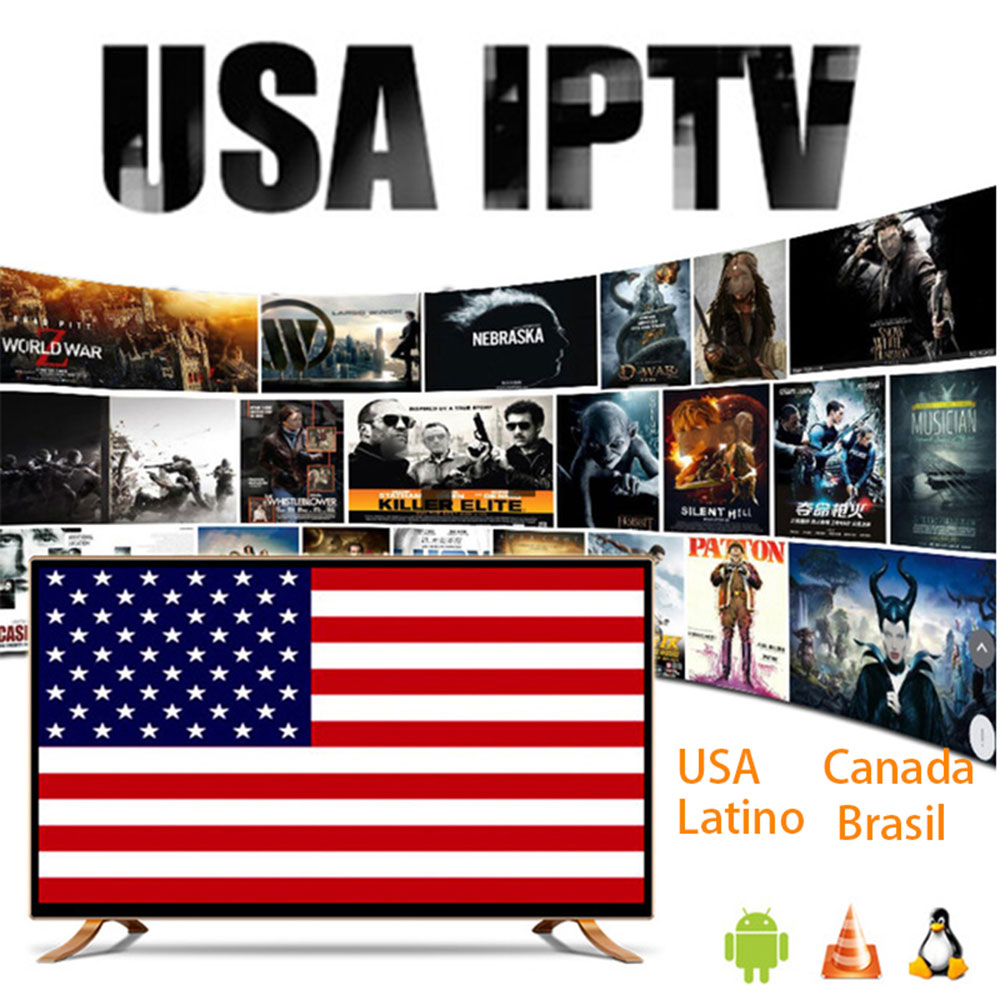 Американская подписка M3U IPTV с Brasil Latino Чили США Канада взрослый xxx для Android TV Box Smart IPTV Smarters Pro Xtream