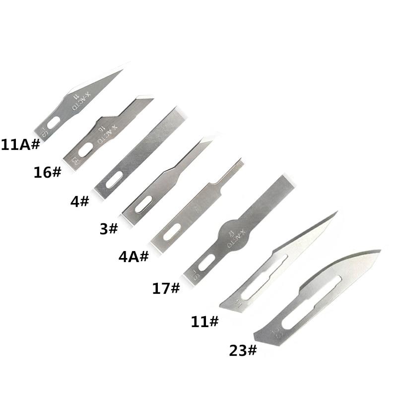 10 Uds de Cuchillas de acero de alto carbono cuchillo de Grabado cuchillas para tallado de madera herramientas de grabado REPARACIÓN DE PCB afición herramienta de corte de cuchillas DIY