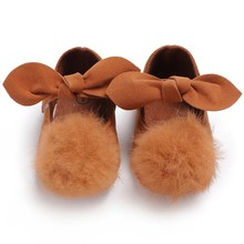 Baby Shoes Spring Fashion Hair Ball Bow Baby Girl Shoes Newborn Cotton First Walkers Hair Ball Cute