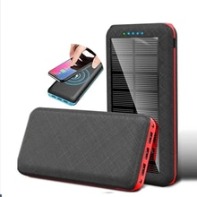 Qi Wireless 80000mAh Solar Power Bank Outdoor Charger Portable 3USB Phone Charger for Xiaomi Samsung
