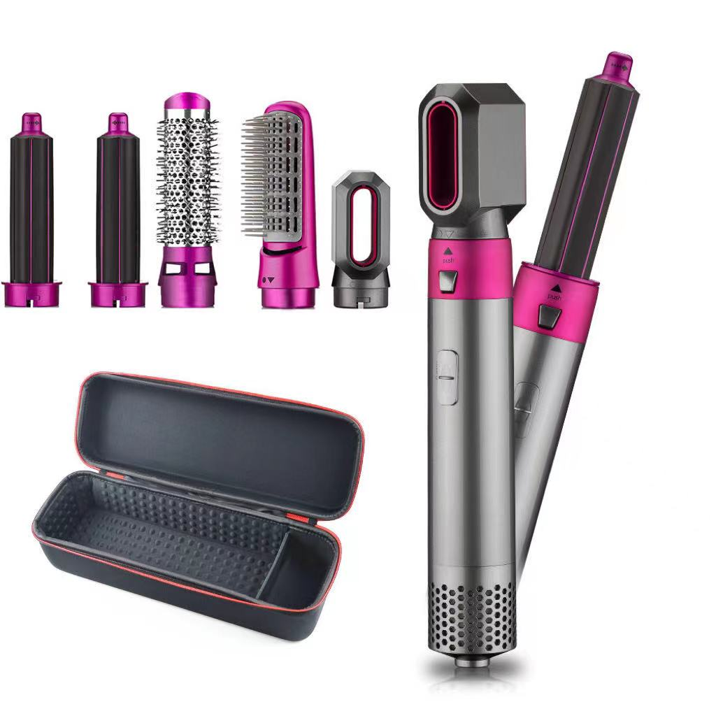 5 In1 Hair Dryer Comb One Step Multi Functional Hair Curling Styling Straightener Curler Electric Air Iron Wand Brush air wrap