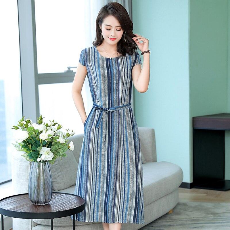 Summer Dress Women Casual Floral Print Short Sleeve Slim Dresses Feamle Casual Plus Size Long Dresses 2020