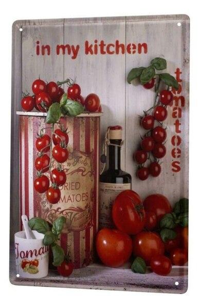 Cartel de hojalata para decoración de restaurante Platón de Metal para cocina...