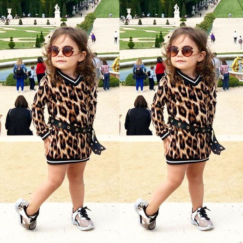 Criança menina 1 t-6 t leopardo vestido de princesa crianças bebê festa pageant tutu vestidos roupas