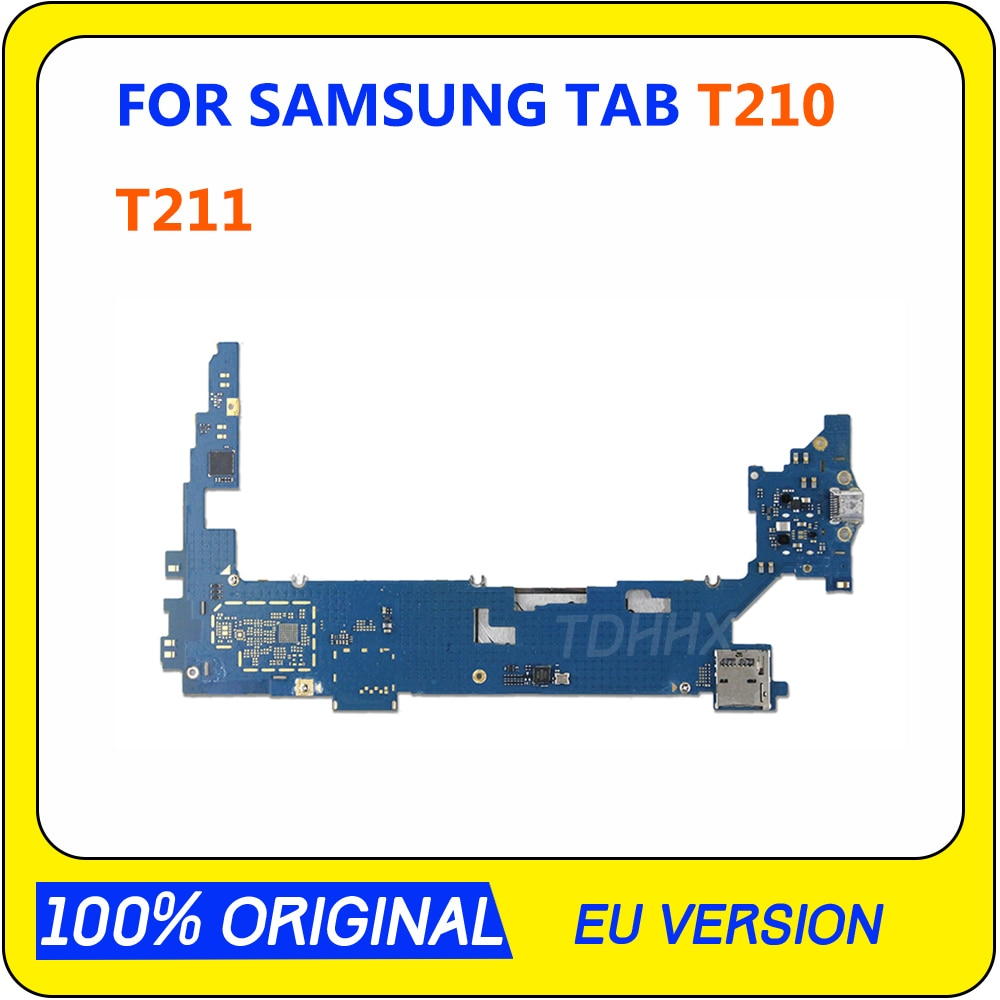 Placa base Original MB para Samsung Galaxy Tab 3 7,0 T210 T211 3G WIFI, placa base desbloqueada, placa lógica Android, probada, buena placa