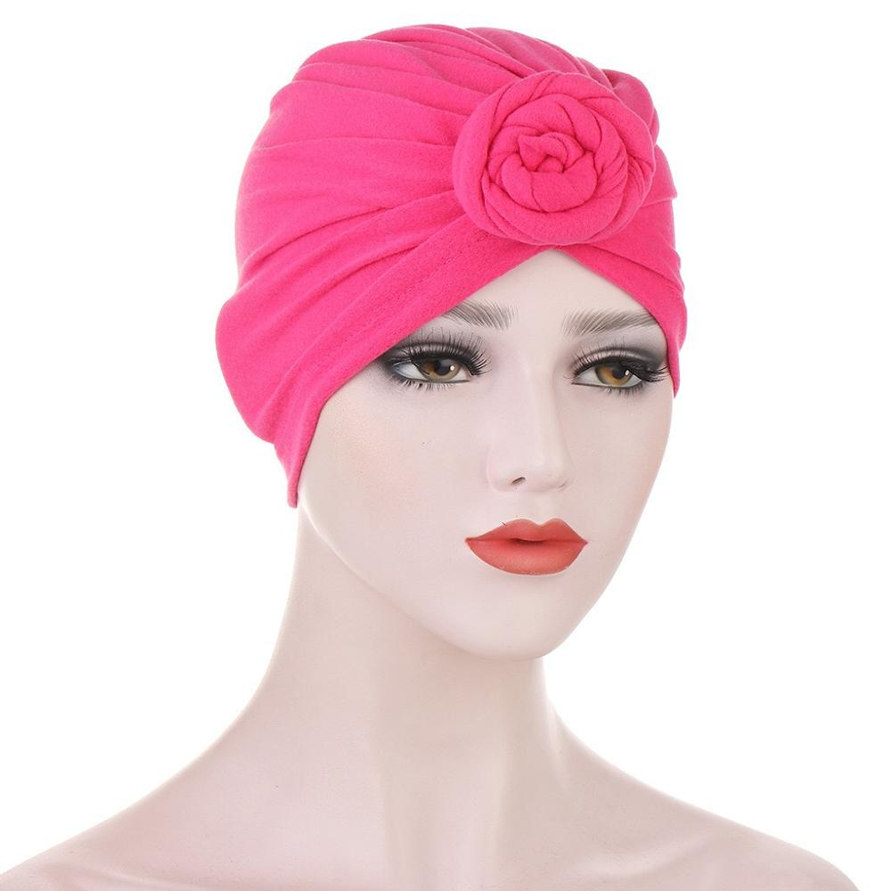 Фото - 2020 Women Knotted Turban Hats Donuts Indian Hat Muslim Solid Hijab Bonnet African Headwraps Ladies Hair Acessories Chemo Cap new cotton twist women turban caps muslim printed hijab bonnet islamic african wrap indian hat ladies chemo cap bandanas
