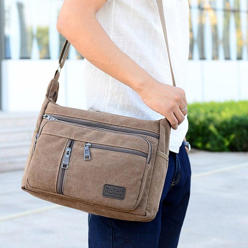aliexpress.com - Men Travel Bag Canvas Casual Tote Travel Men's Crossbody Outdoor Bags Mens Messenger Bags Retro Zipper Shoulder Bag High Quality