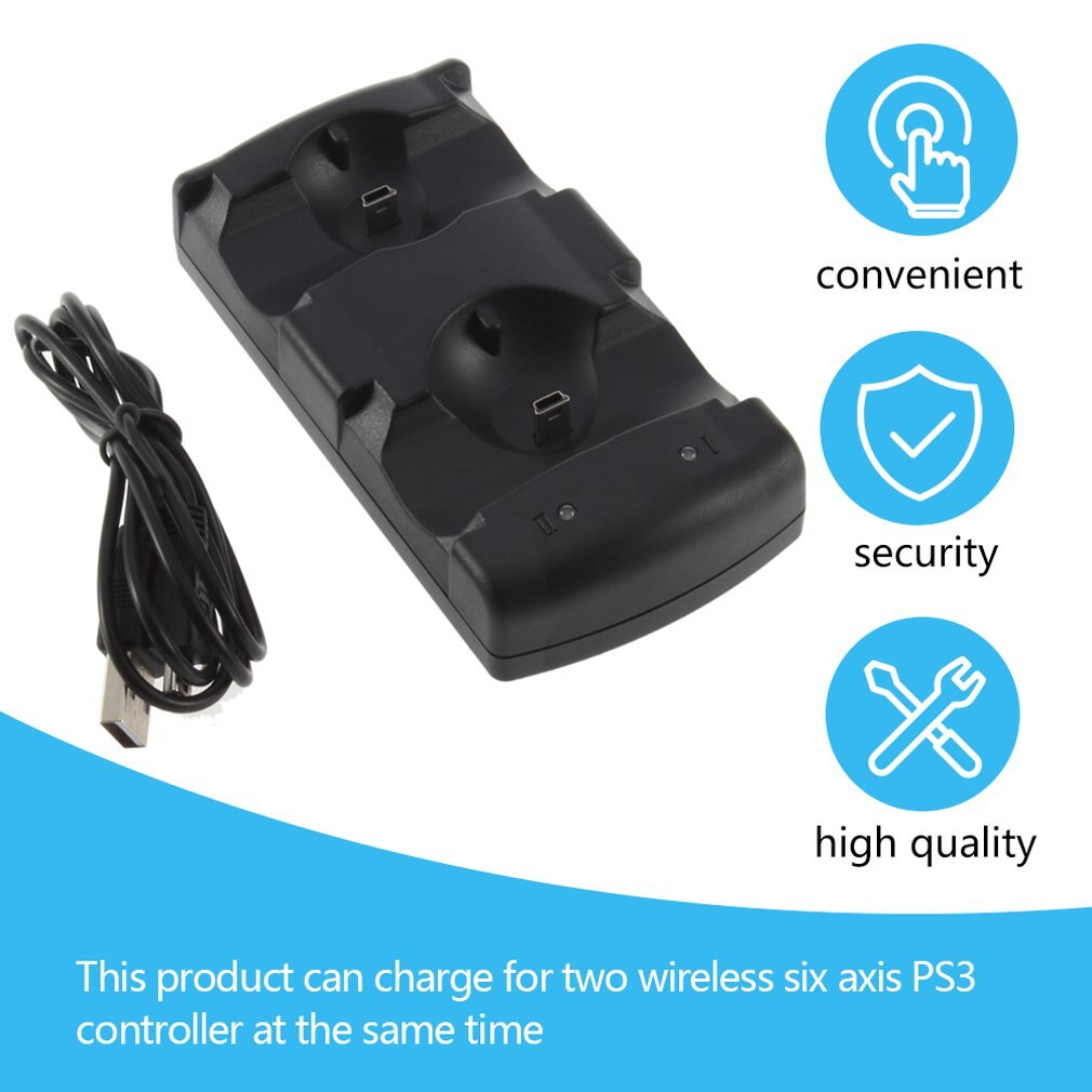 Hot 2 in 1 Dual charging dock charger for Sony PlayStation3 Wireless controller PS3 Worldwide ps3