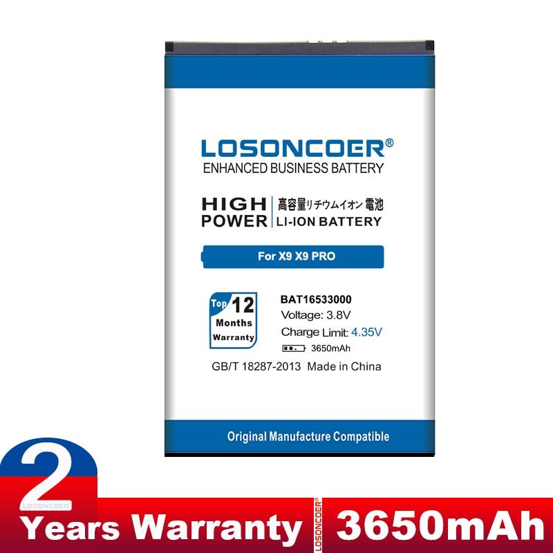 LOSONCOER 3600mAh BAT16533000 Для DOOGEE X9 батареи X9 Pro X9Pro хорошее качество батареи для телефона ~ в наличии