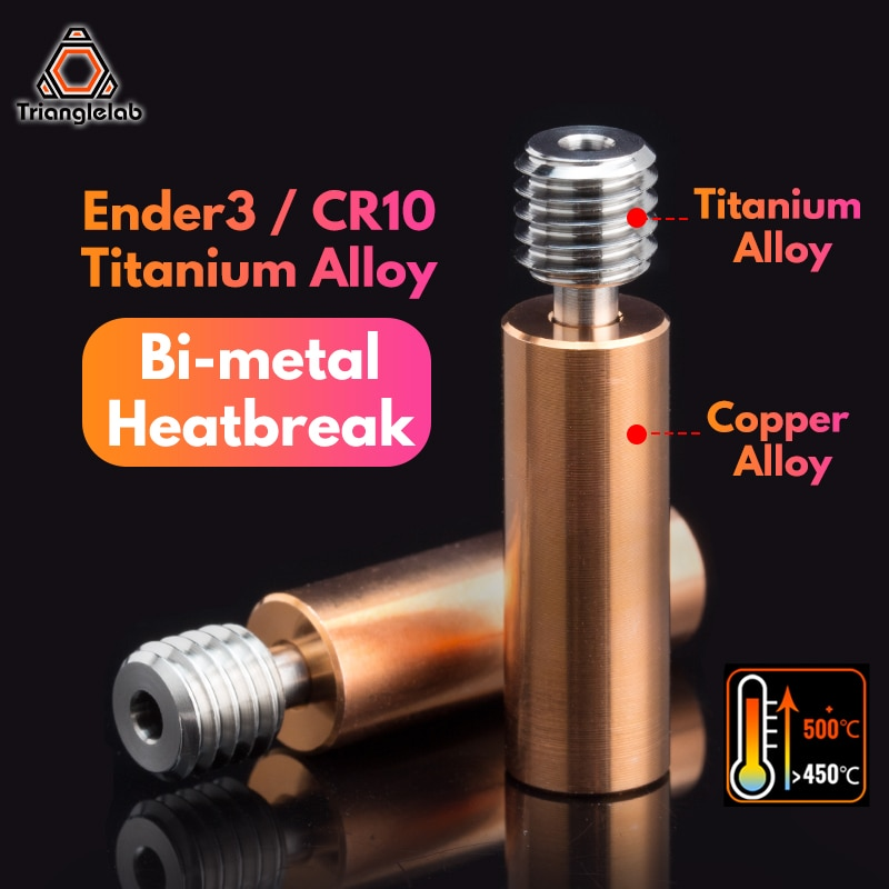Trianglelab Ender3 CR10 سبائك التيتانيوم ثنائية المعدن كسر الحرارة ل CR10 أندر 5/3 CR-10S 1.75 مللي متر خيوط السلس كسر الحرارة