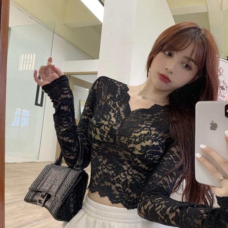 V Neck Blouse Pullover Autumn Ruffle Long Sleeve Spring Summer Korean Fashion Clothing Koszula Damska Elegancka Blouses BG50BS