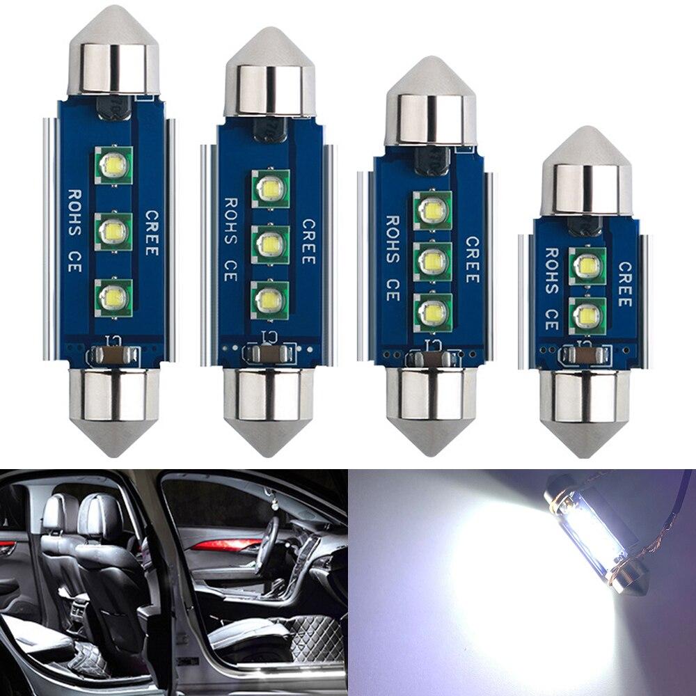2x C10W C5W светодиодный Canbus гирлянда 31 мм 36 мм/39 мм/41 42 мм для автомобильной лампы Интерьер Чтение светильник фонарь освещения номерного знака б...