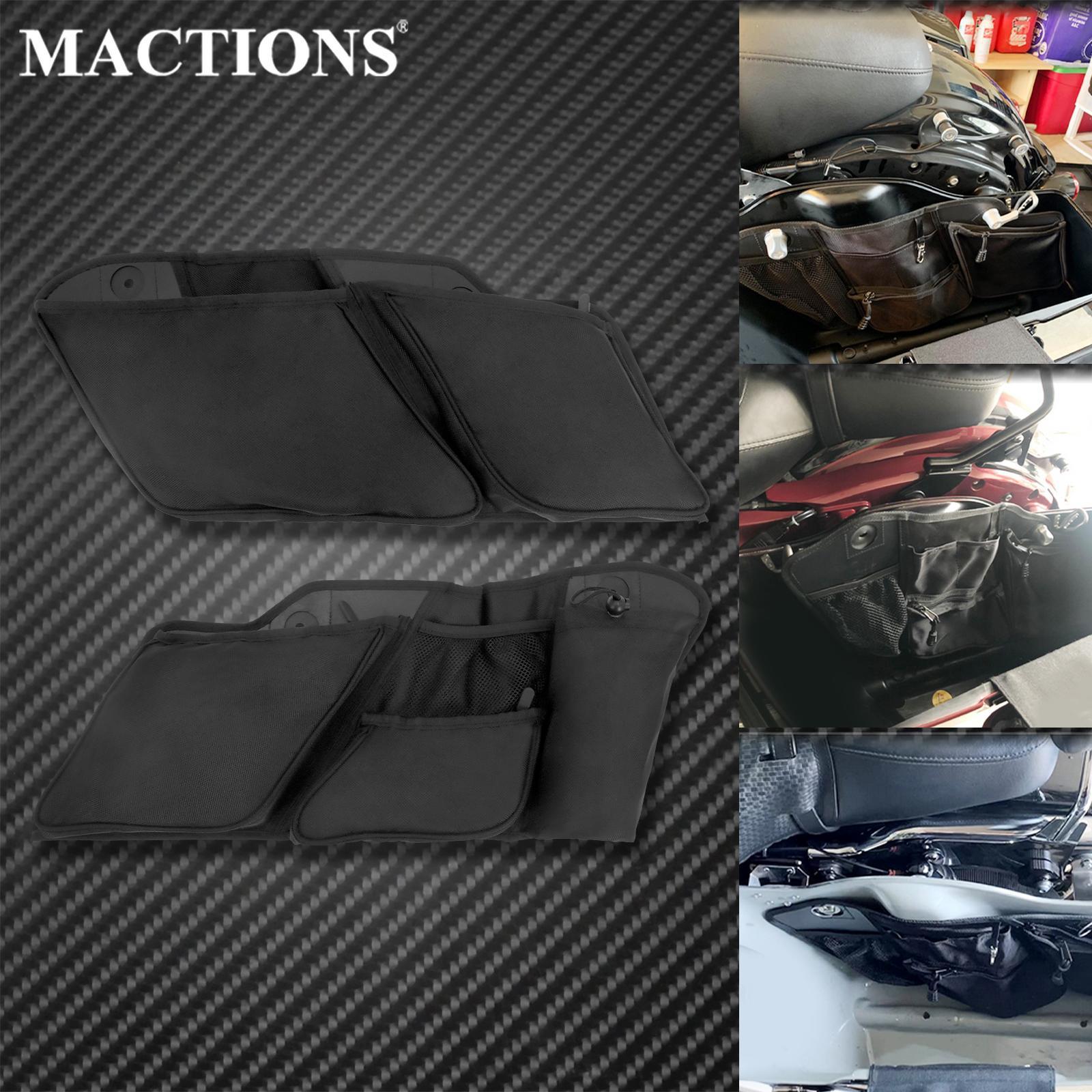 منظم حقائب الدراجات النارية لأدوات التخزين بطانة سوداء لهارلي بجولة إلكترا رود الإنزلاق CVO Limited FLHTKSE 2014-2021