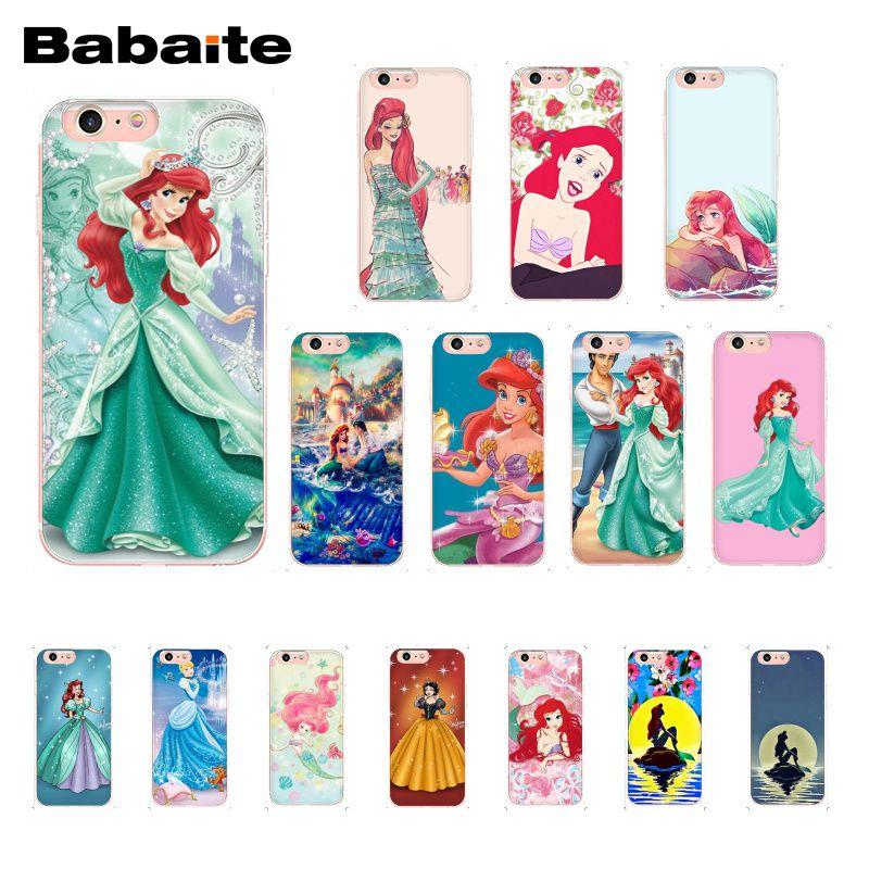 Babaite princesa Ariel sirenita princesa teléfono caso para iphone 11 Pro 11Pro Max 8 7 6 6S Plus X XS X MAX 5 5S SE XR