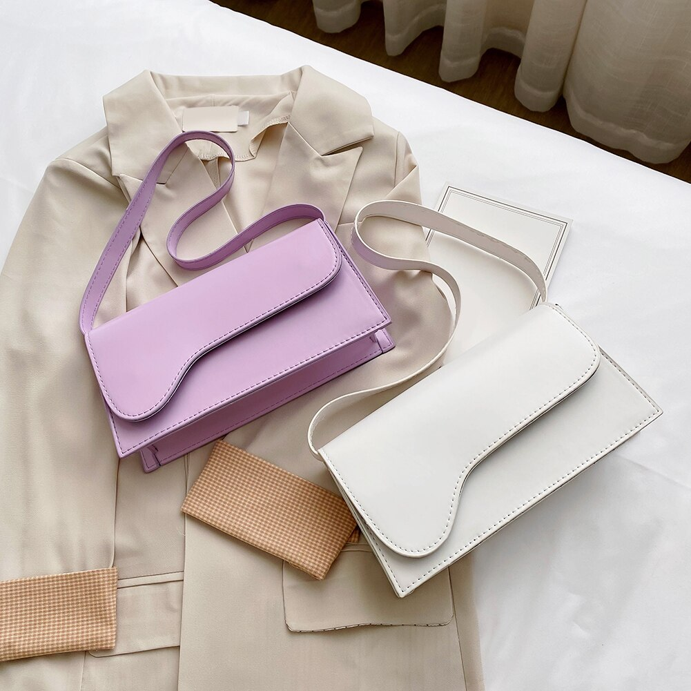 Elegante bolso de mano para mujer, de Color liso, estilo Retro, PU, para hombro, para compras, para compras para exterior, adornos de viaje