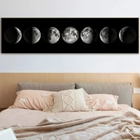 moon phase nordic art canvas painting posters and prints minimalist wall art painting pictures for living room home decor