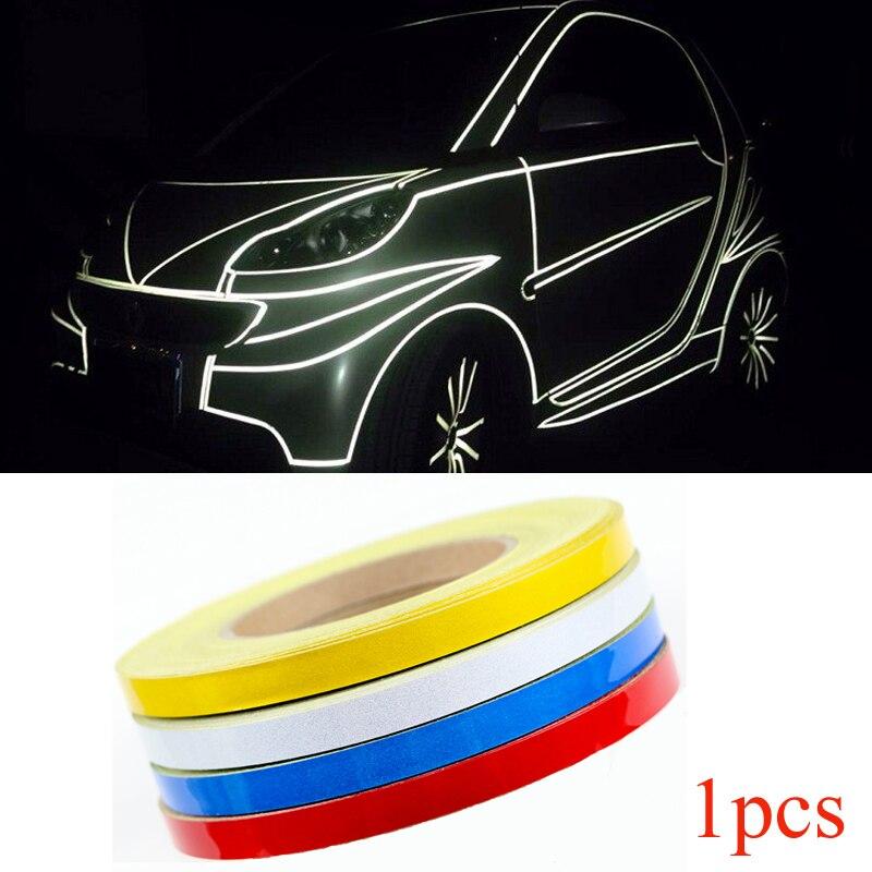 Car-styling Night Magic Reflective Tape 1cm*5m Car Body Decoration for Ford focus 2 focus 3 Fiesta EcoSport ESCORT Car Stickers