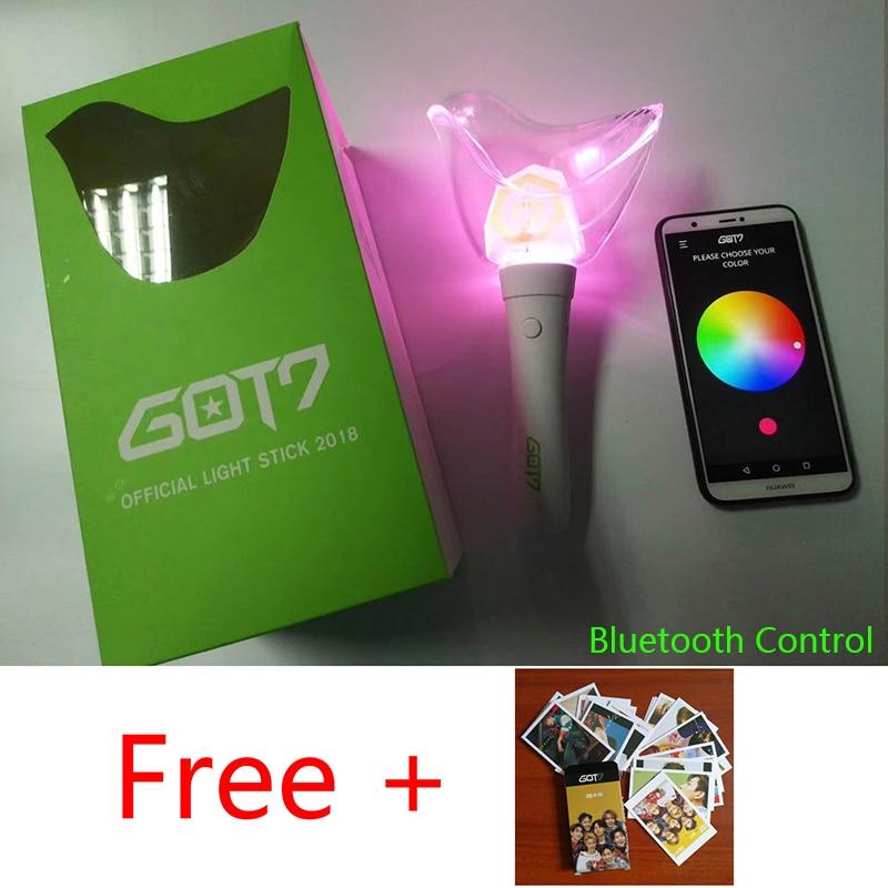 KPOP GOT7 VER2 Original Official LightStick Album Concerts Glow Lamp Bird Light stick VER.2 Bluetooth Free Lomo Card