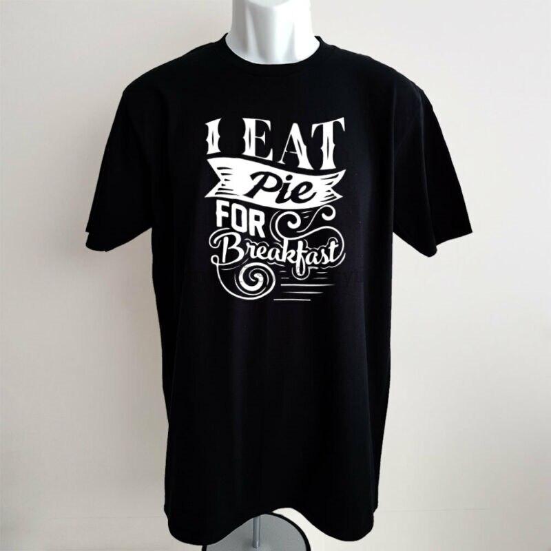 Wigan camiseta de pastel I Eat Pie para el desayuno hombres divertido único eslogan ropa regalo