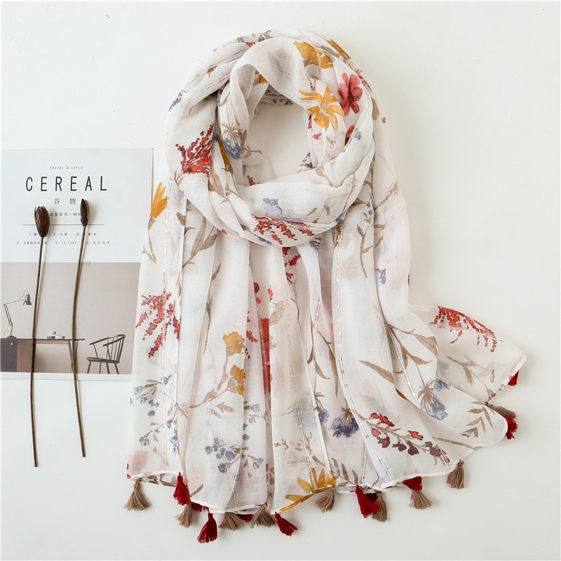 Luxury Brand Printing silk Scarf Sunscreen Shawls New Winter Cotton Hijab Fashion Scarves women blanket poncho chiffon hijab
