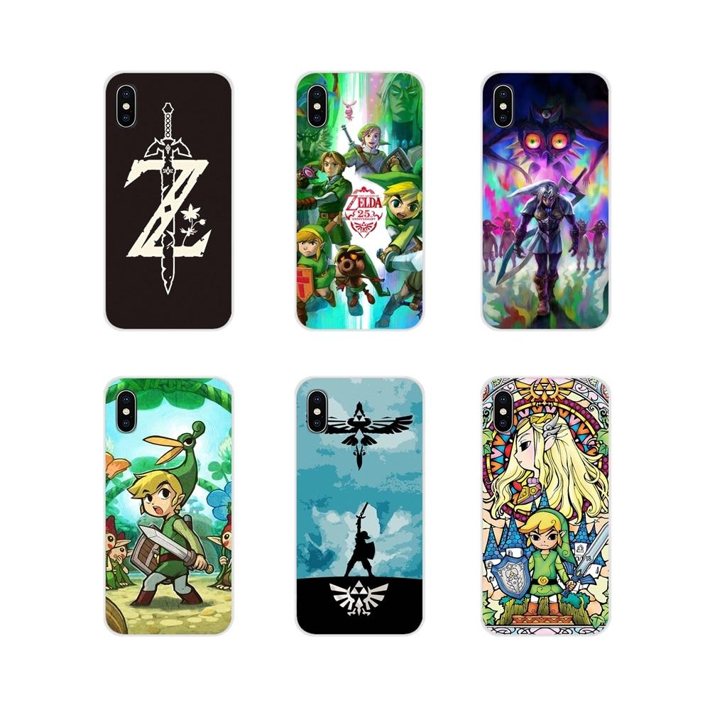 Accesorios de la cáscara del teléfono de la leyenda de Zeldas para Motorola Moto X4 E4 E5 G5 G5S G6 Z Z2 Z3 G G2 G3 C jugar más