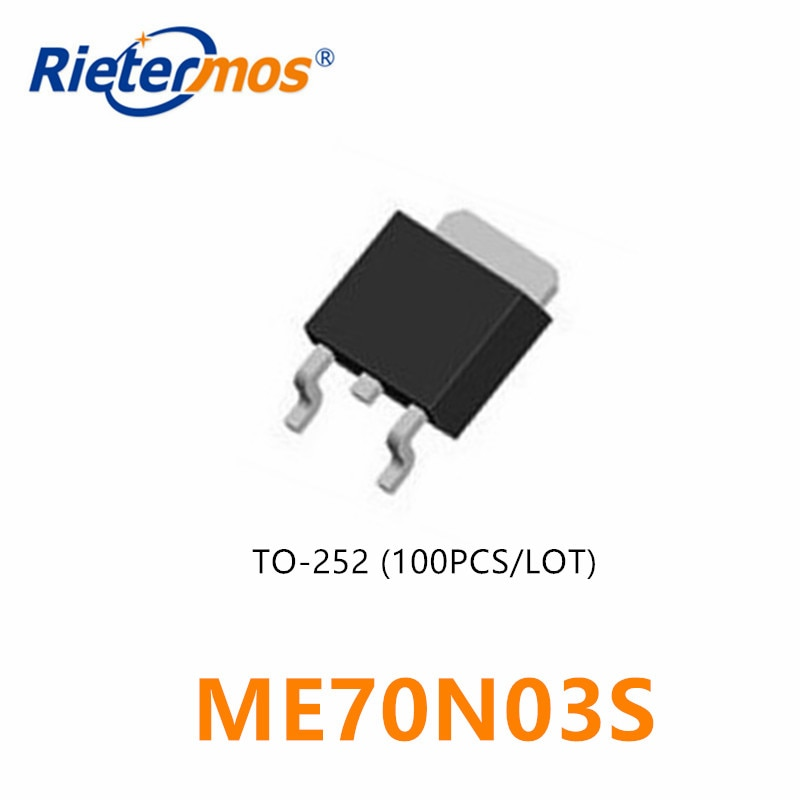 100 Uds N-CHANNEL 30V ME70N03S ME70N03 70N03 TO252 de alta calidad