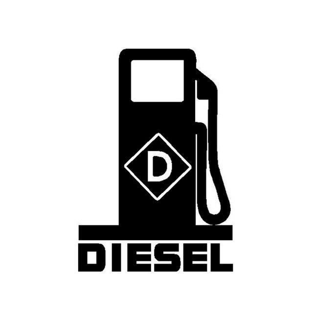 11 см * 15,8 см смешные дизельные топлива высококачественные виниловые декоративные автомобильные наклейки черные/серебряные