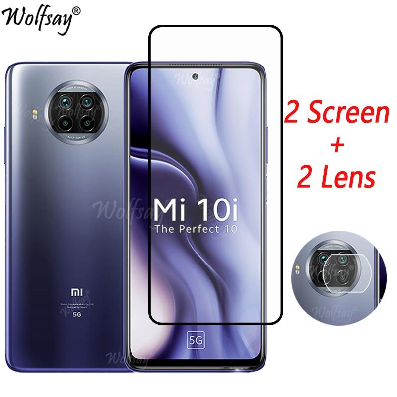 Full Cover Tempered Glass For Xiaomi Mi 10i 5G Screen Protector For Xiaomi Mi 10i 10TPro 10 T Lite Camera Glass Mi 10i 5G Glass недорого