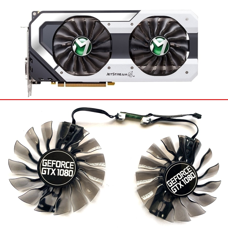 NEW 95MM GA92S2H 4PIN GPU Cooling Fan Compatible GTX1080 For Maxsun GTX 960 970 Palit GTX1080 SUPER JetStream GTX1060 Replace