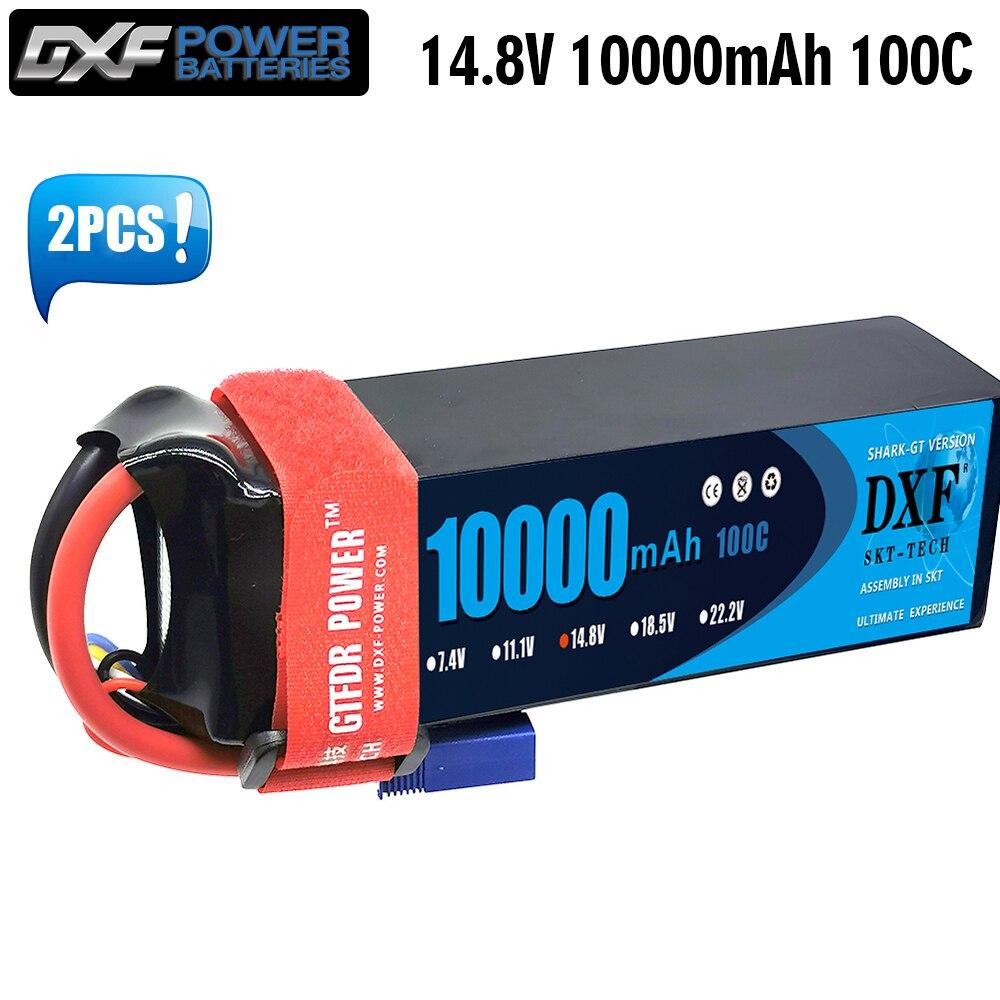DXF Lipo Battery 4S 14.8V 10000mAh 100C 200C Deans/T XT90 EC5 XT90S for RC 1/8 1/10 Car Truck Tank RC Models XXMAX 8S Arrama 8S