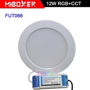 Miboxer 12W RGB+CCT LED Downlight FUT066 Round AC 100V-240V Brightness adjustable smart LED Ceiling Spotlight
