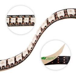 Ws2815 dc12v rgb luzes de led, individualmente endereçável, sinal duplo 1m/5m 30/60/144 pixels/leds/m led strip 12v