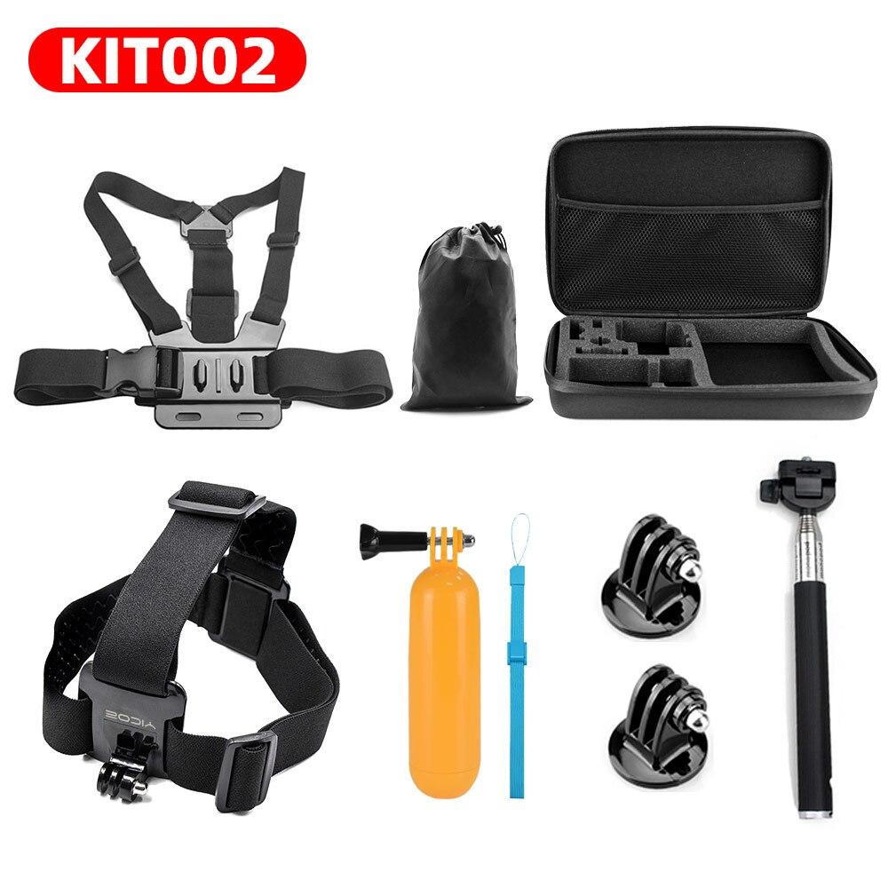 For GoPro hero 7 6 5 4 3 Sports Action Camera Accessories Kit Selfie Stick Tripod For SJCAM Xiaomi Yi 4k mijia Chest Head Strap
