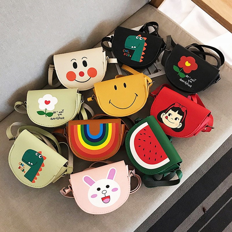 Bags 2021 New Cute Cartoon Messenger Bag Fashion Girl Small Bag Foreign  Accessories Small Bag Purses