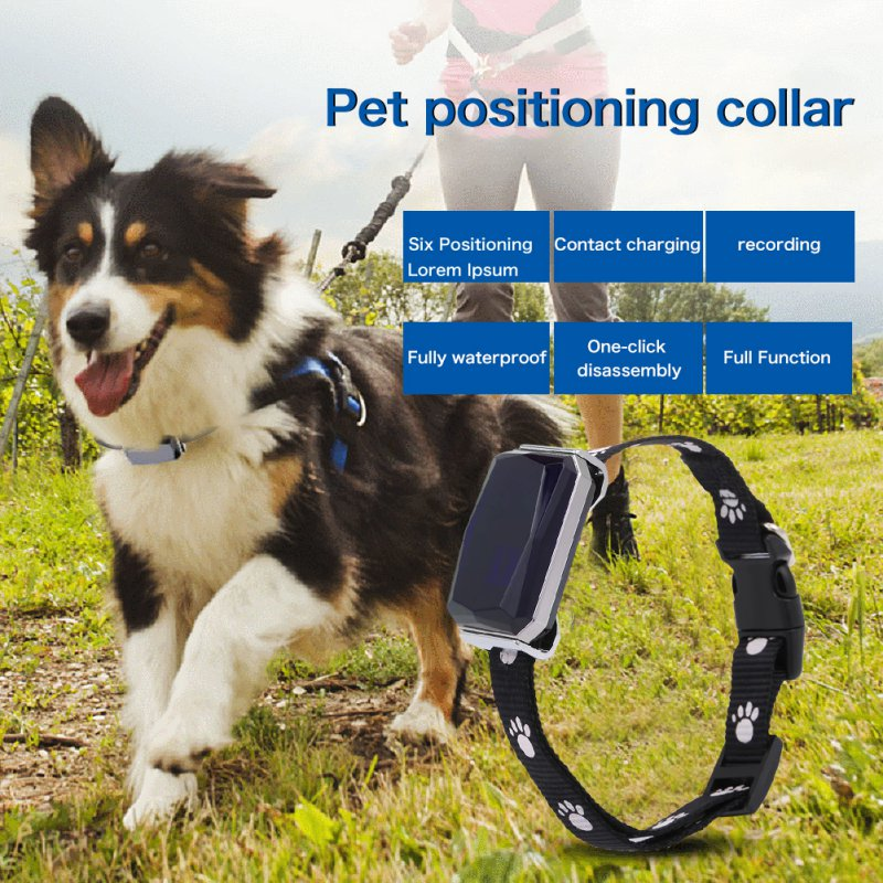 Smart GPS Tracker MiNi pet positioning collar AGPS LBS positioning SOS real-time tracking IP67 protection level