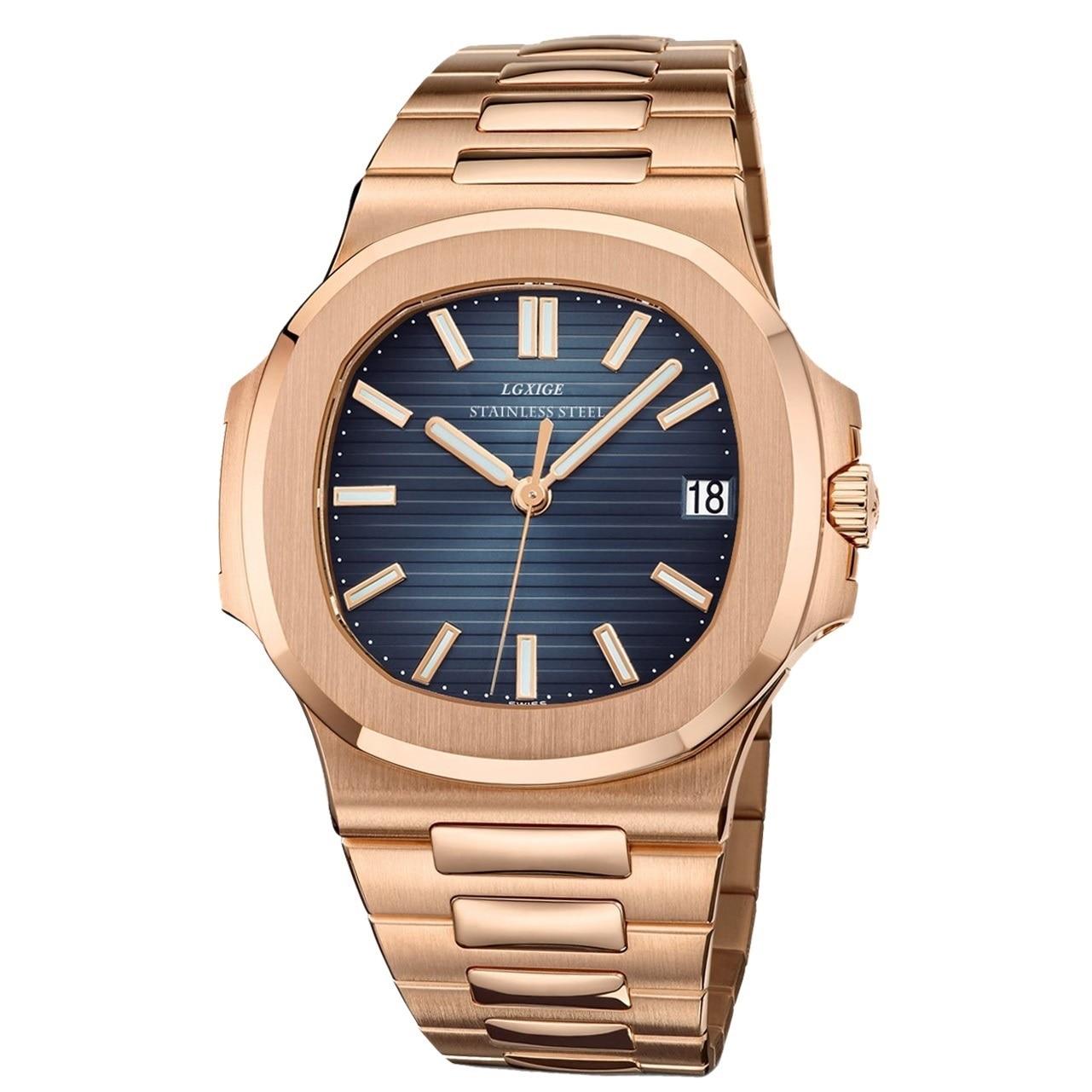 2021New الرجال الساعات العلامة التجارية الفاخرة 2020 الرياضة ساعة رجالي مقاوم للماء نمط جديد أنيق الفولاذ المقاوم للصدأ ساعة اليد دروبشيبينغ