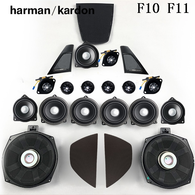 Horn For BMW F10 F11 5 Series harmankardon Loudspeaker Audio Cover Power Amplifier Bass Tweeter Midrange Subwoofer Speakers Kit