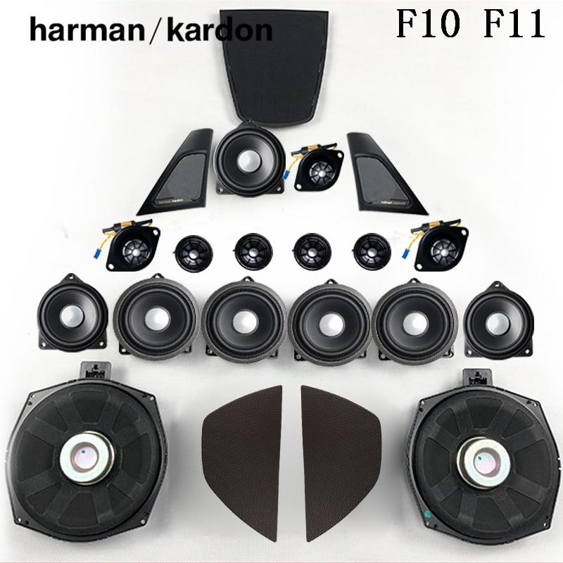 Horn For BMW F10 F11 5 Series harmankardon Loudspeaker Audio Cover Power Amplifier Bass Tweeter Midrange Subwoofer Speakers Kit