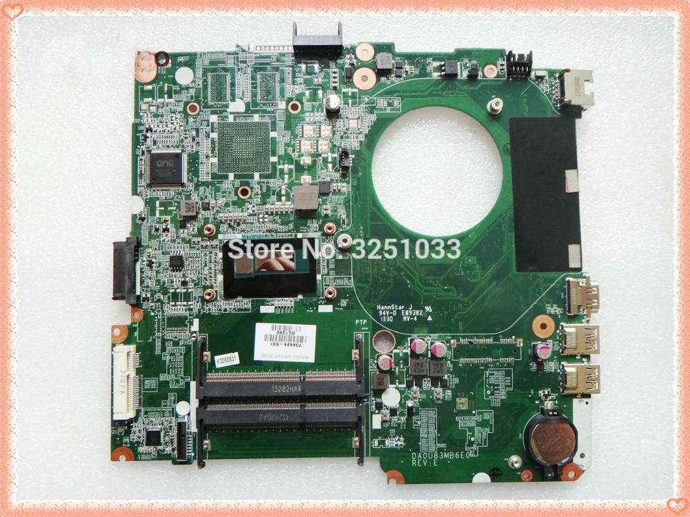 734424-501 739965-501 DA0U83MB6E0 اللوحة لابتوب HP بافيليون 14 14N i3-4005U DDR3