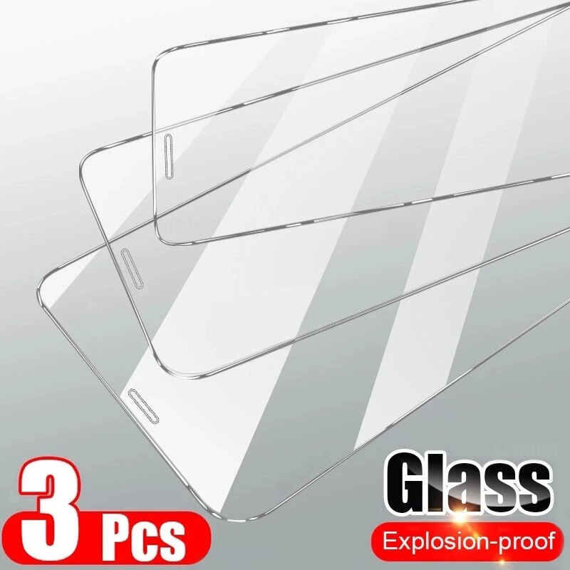 3PCS Full Cover Tempered Glass On the For iPhone 12 11 Pro Max Screen Protector For iPhone XR XS MAX