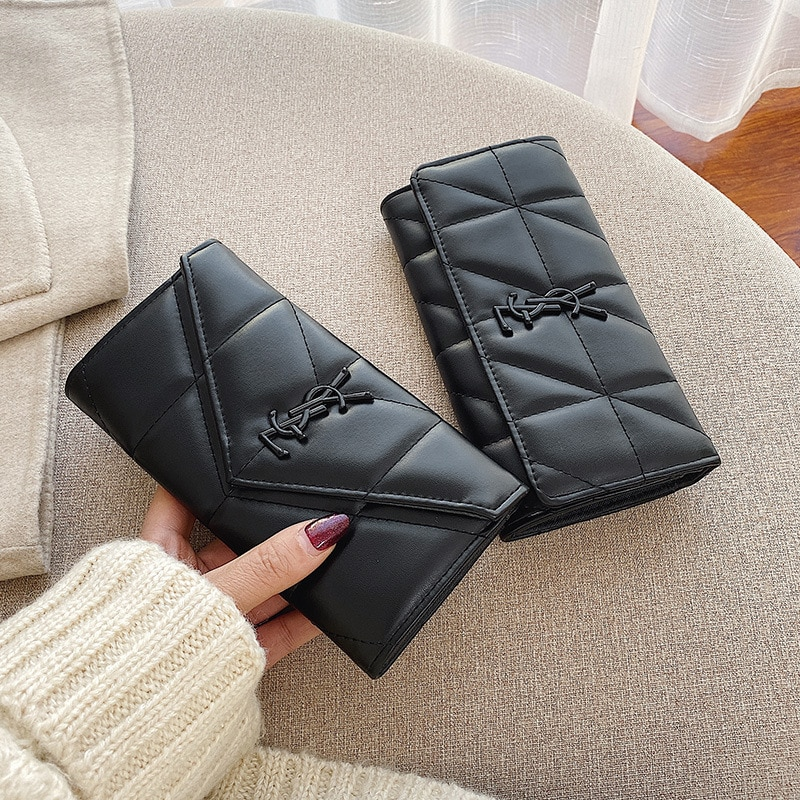 Luxury Brand Leather Women Long Zipper Coin Purses Design Clutch Wallet Female Money Credit Card Hol