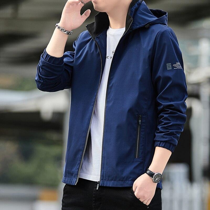 Мужские куртки 2021, мужские модные куртки и пальто, повседневная приталенная ветровка, мужские куртки, уличная верхняя одежда, 2186