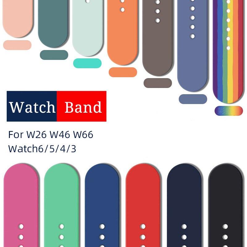 AliExpress - Zurexa Soft Silicone Milan WatchBand For Watch 6 5 4  38mm 40mm 42mm 44mm Bracelet For W26 W46 W66 HW12  Watch Strap Accessories