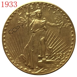 EUA 1933 $20 St. Gaudens Cópia Moeda
