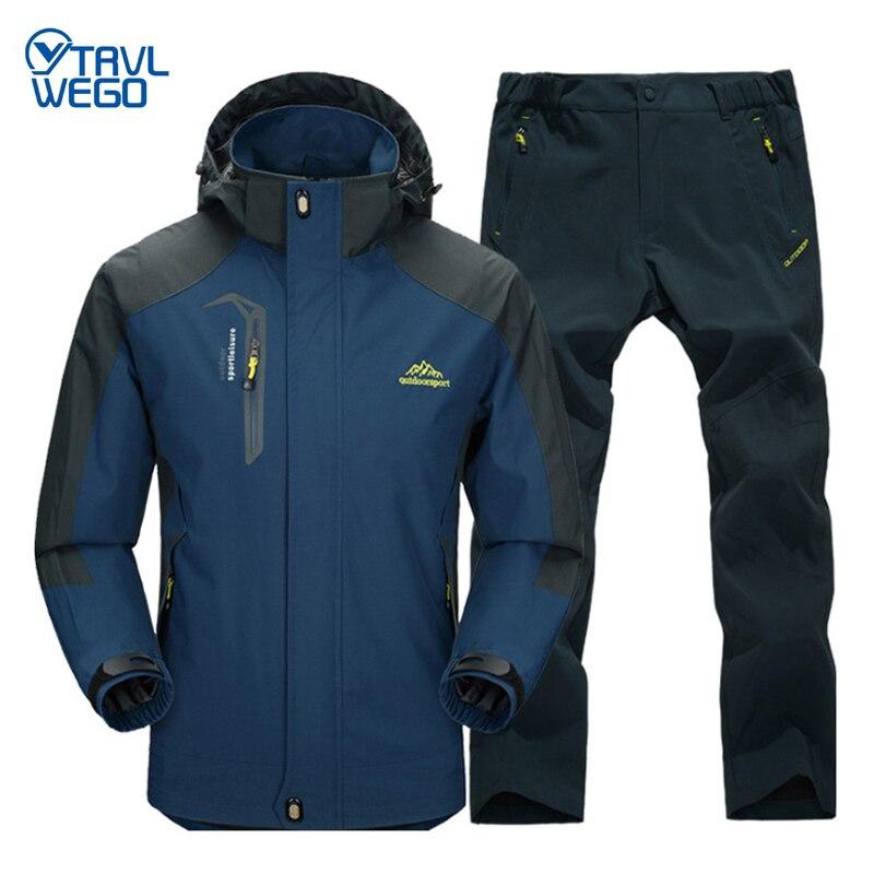 TRVLWEGO Spring & Autumn Outdoor Single Jacket Pants Hiking Camping Men's Suit Windbreak Trip Trekking Coat Trousers Free Return